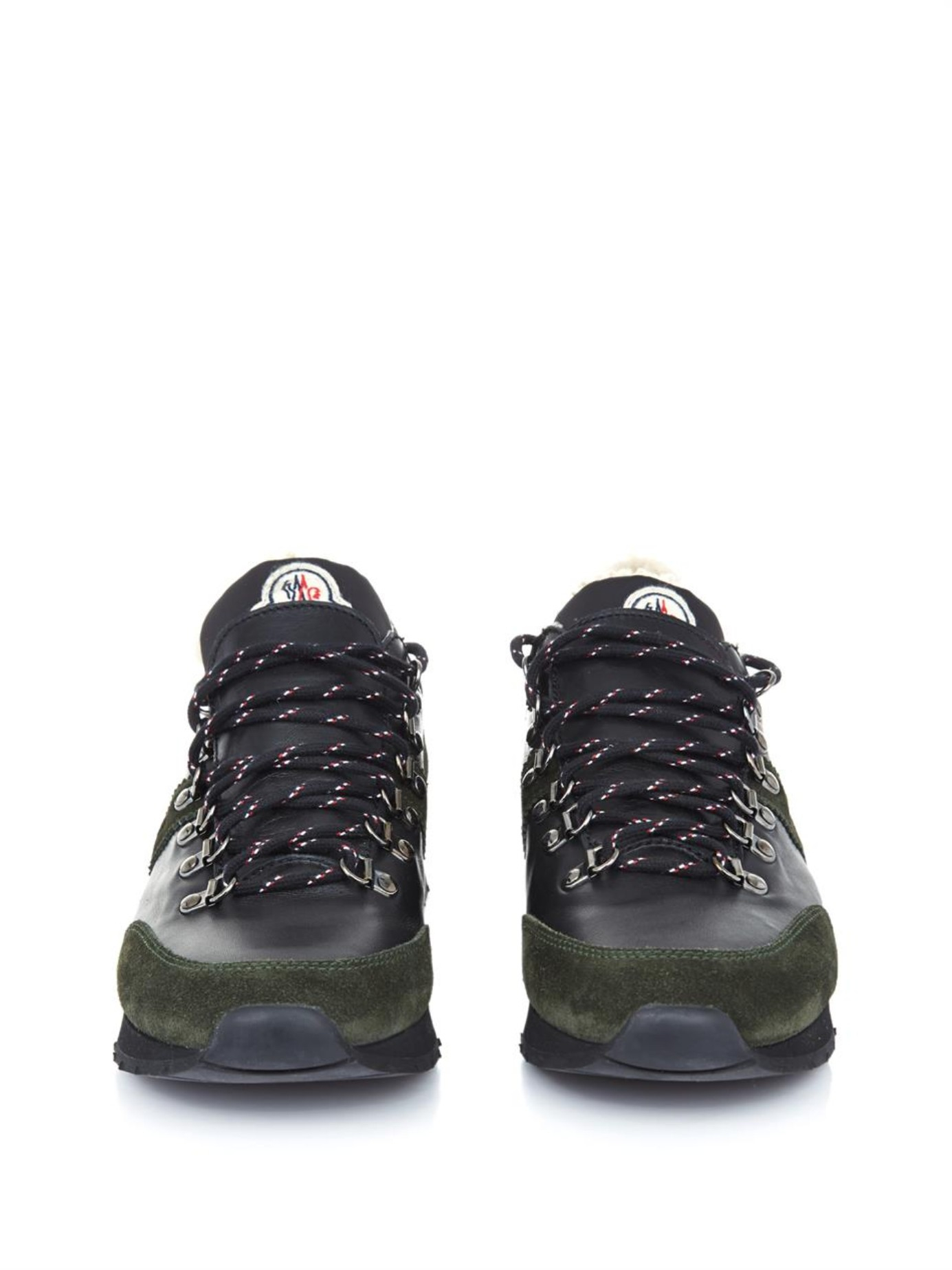 moncler grey camo trainers