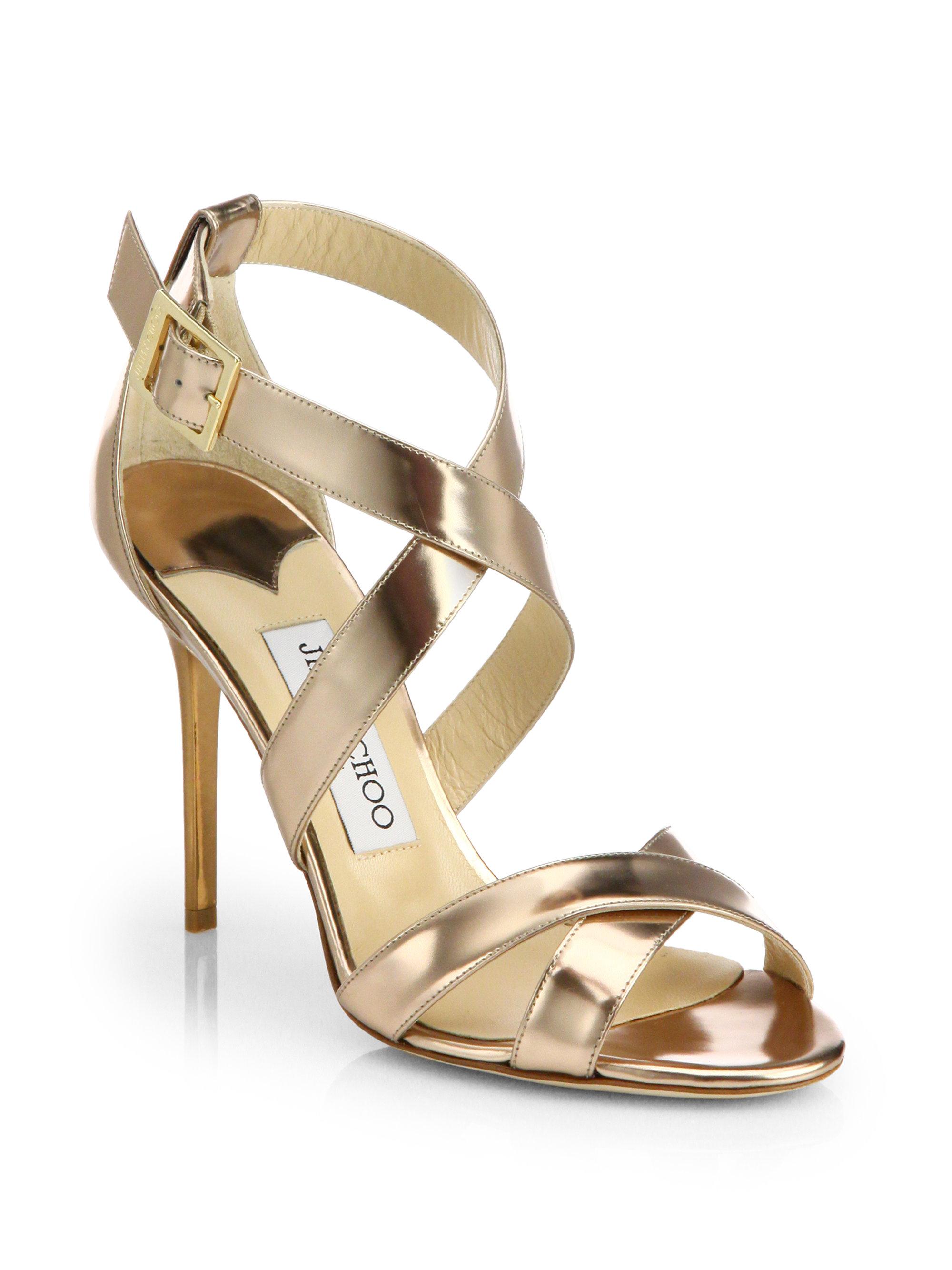 Jimmy Choo Gold Sandals gugan.es