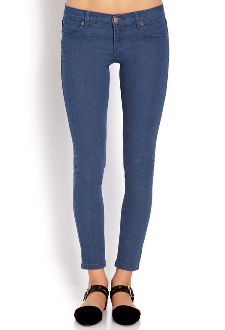 Forever 21 Favorite Ankle-length Skinny Jeans in Blue | Lyst