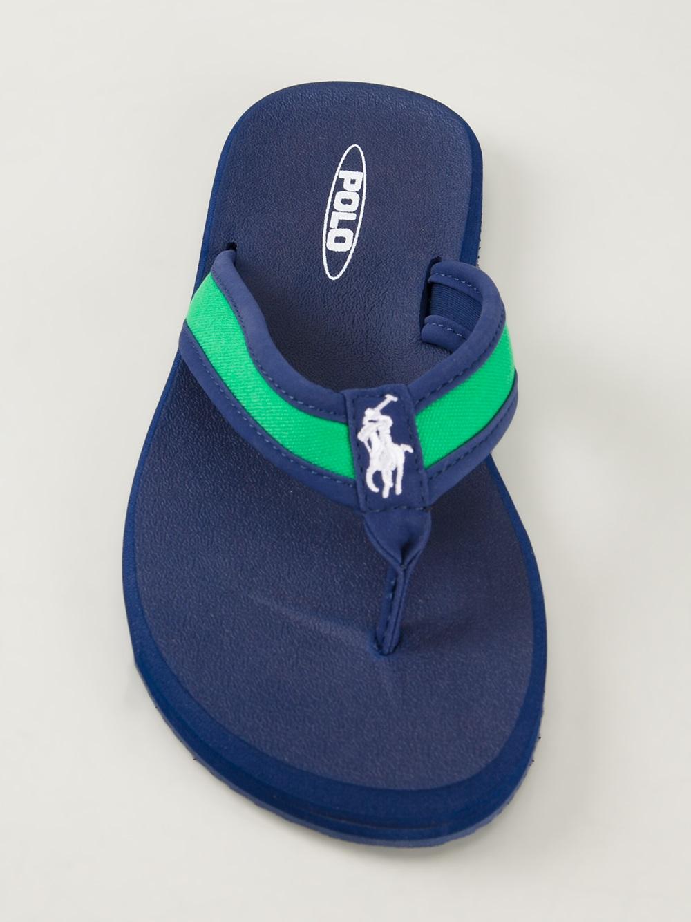 ff4a78b49 Lyst - Polo Ralph Lauren Almer Flip Flops in Green for Men