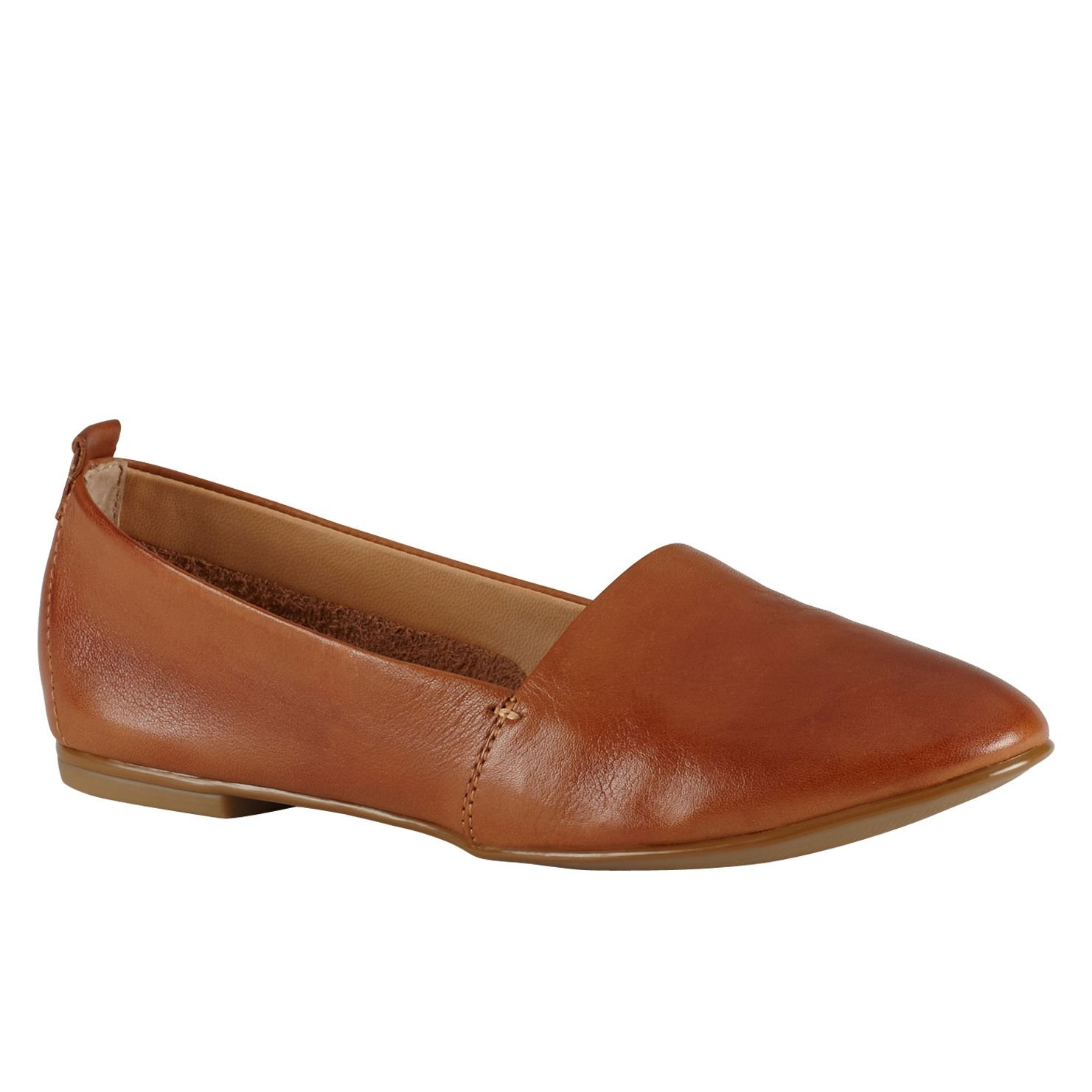 aldo faesa toe slip on shoes in brown cognac lyst