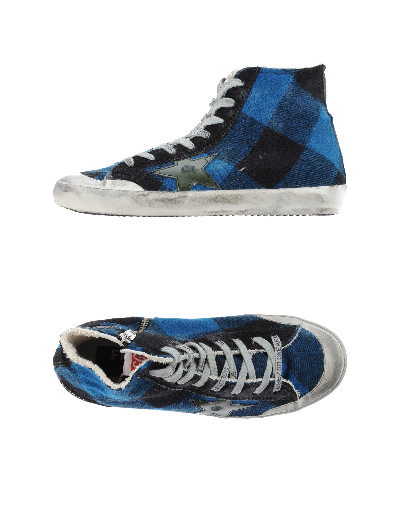 golden goose deluxe brand high tops trainers in blue lyst. Black Bedroom Furniture Sets. Home Design Ideas
