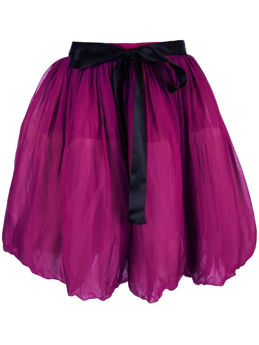 Red valentino Highwaisted Balloon Skirt in Purple