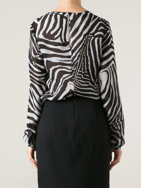 Zebra Print Blouses Sale 107