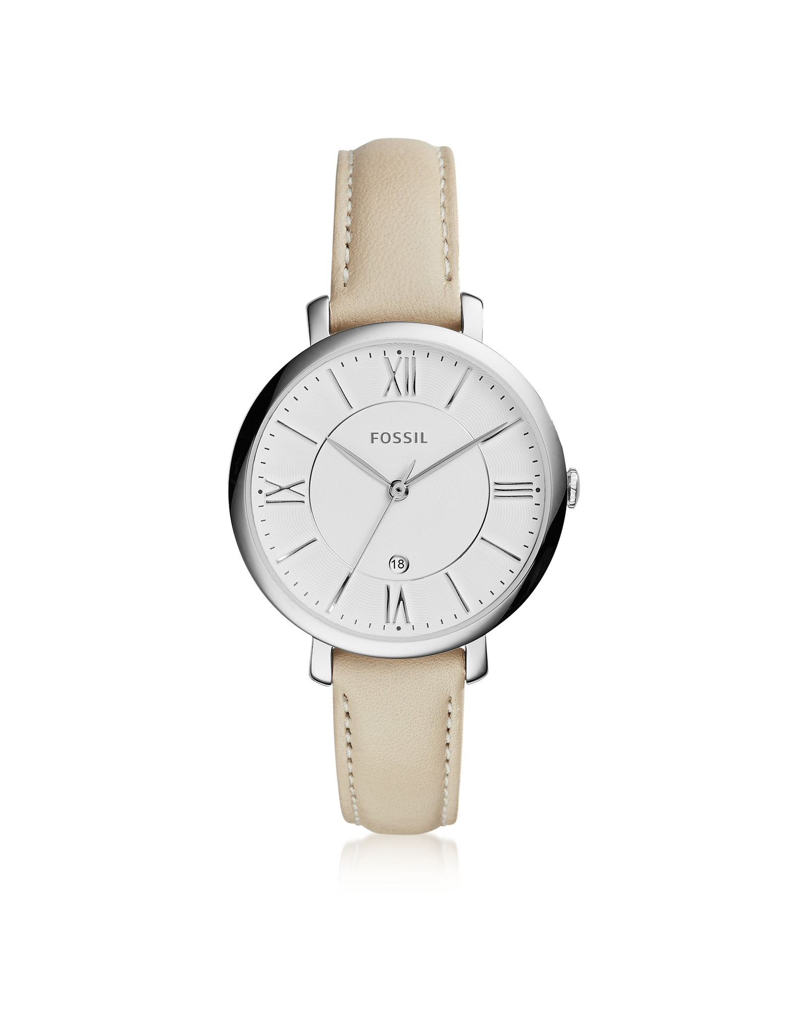 fossil jacqueline stainless steel s w leather