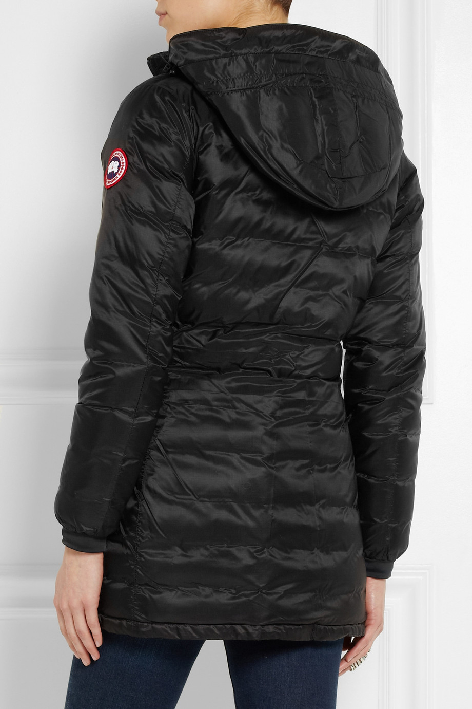 Lyst Canada Goose Camp Hooded Quilted Down Coat In Black