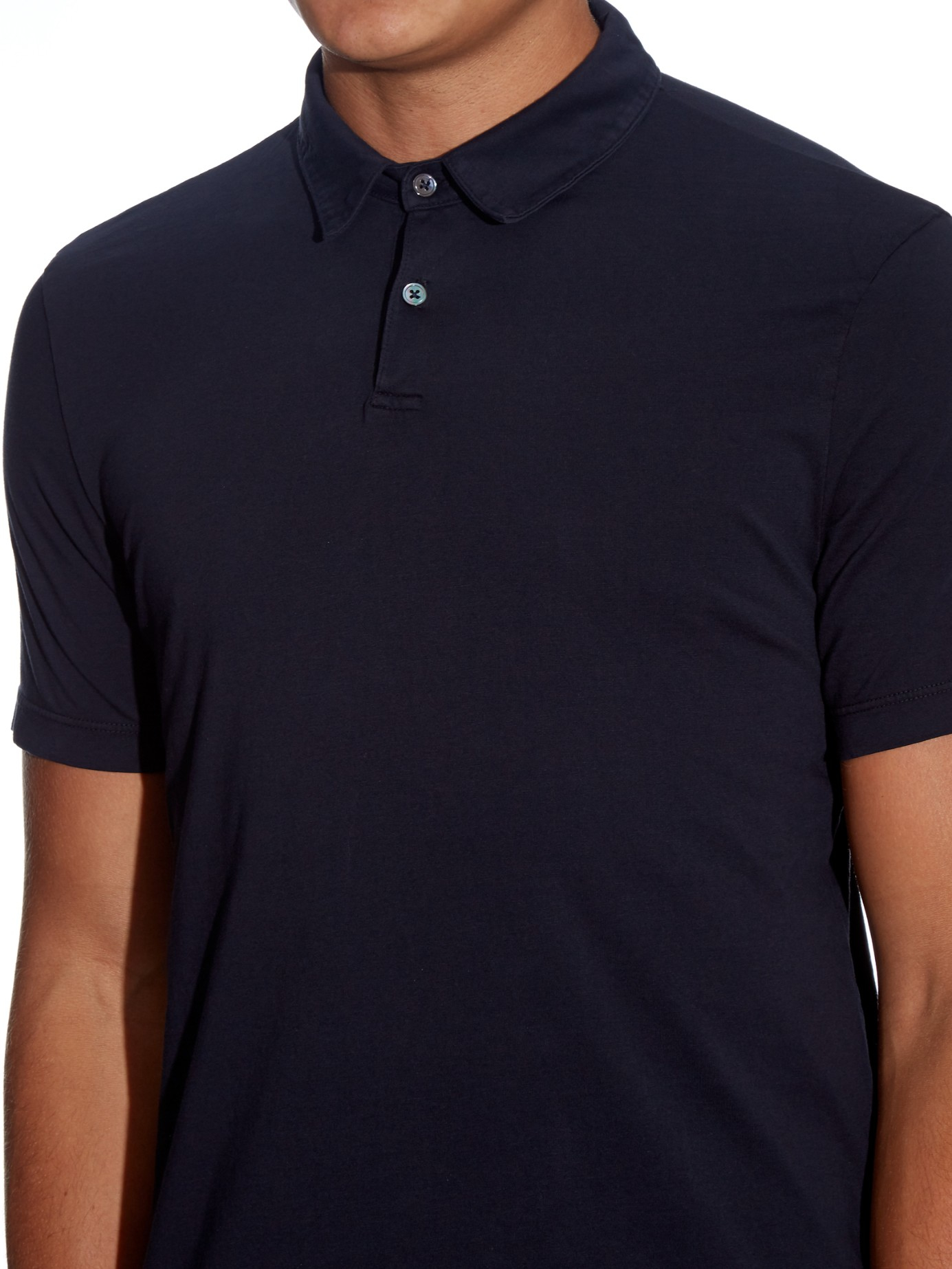 James perse supima cotton polo shirt in blue for men lyst for Supima cotton dress shirts