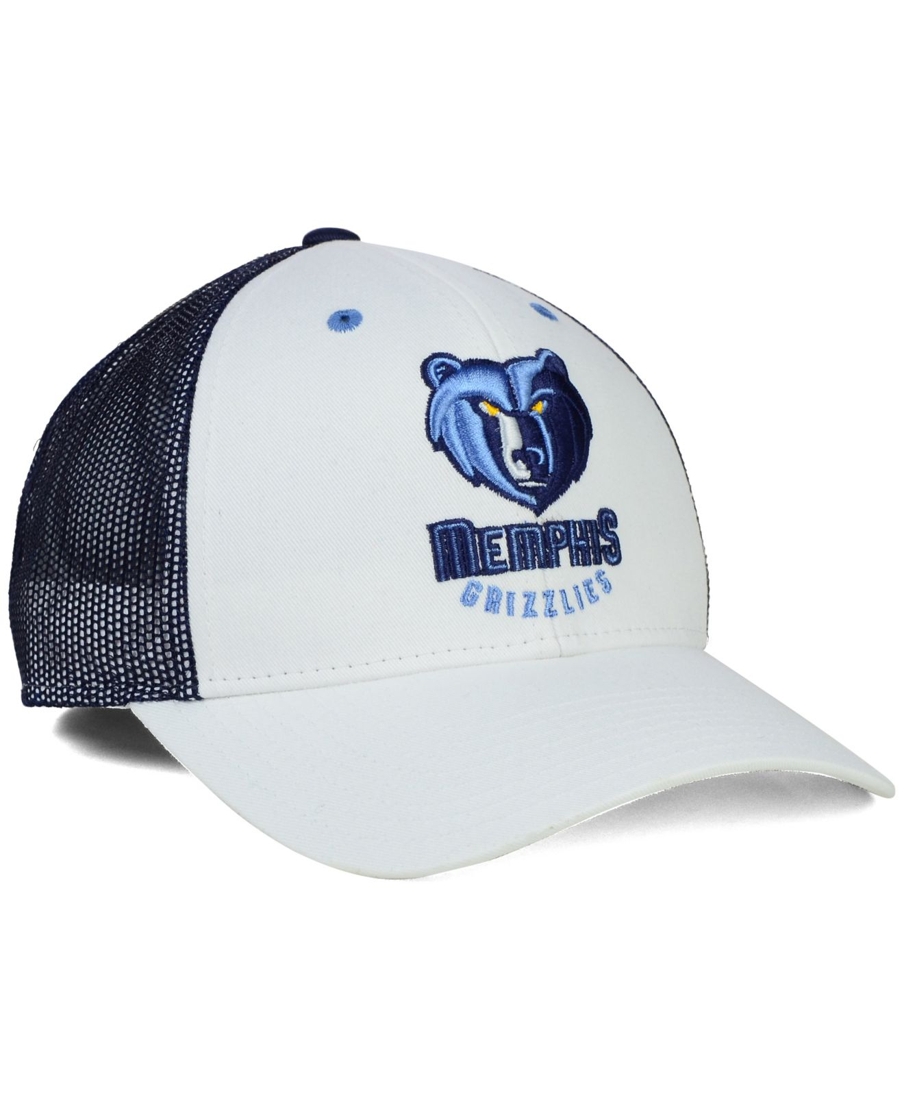huge selection of c2049 b7ebe Lyst - adidas Memphis Grizzlies Back Screen Mesh Cap in White for Men