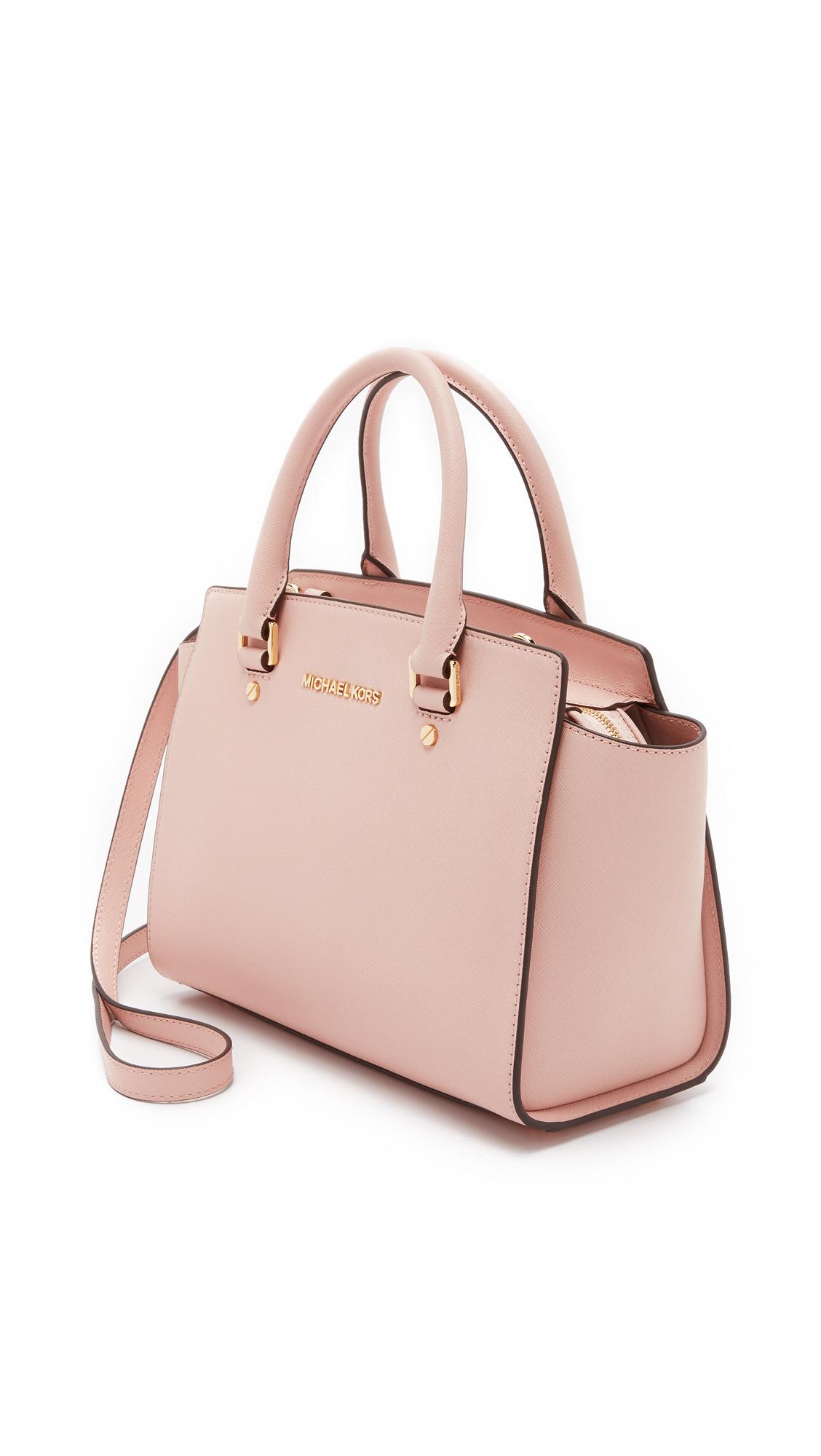 faf5449ee547 ... order michael michael kors selma medium satchel ballet in pink lyst  ae4b3 d6012