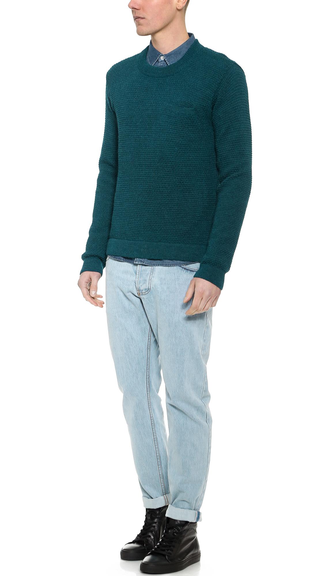 Patrik Ervell Selvedge Jeans In Blue For Men Lyst