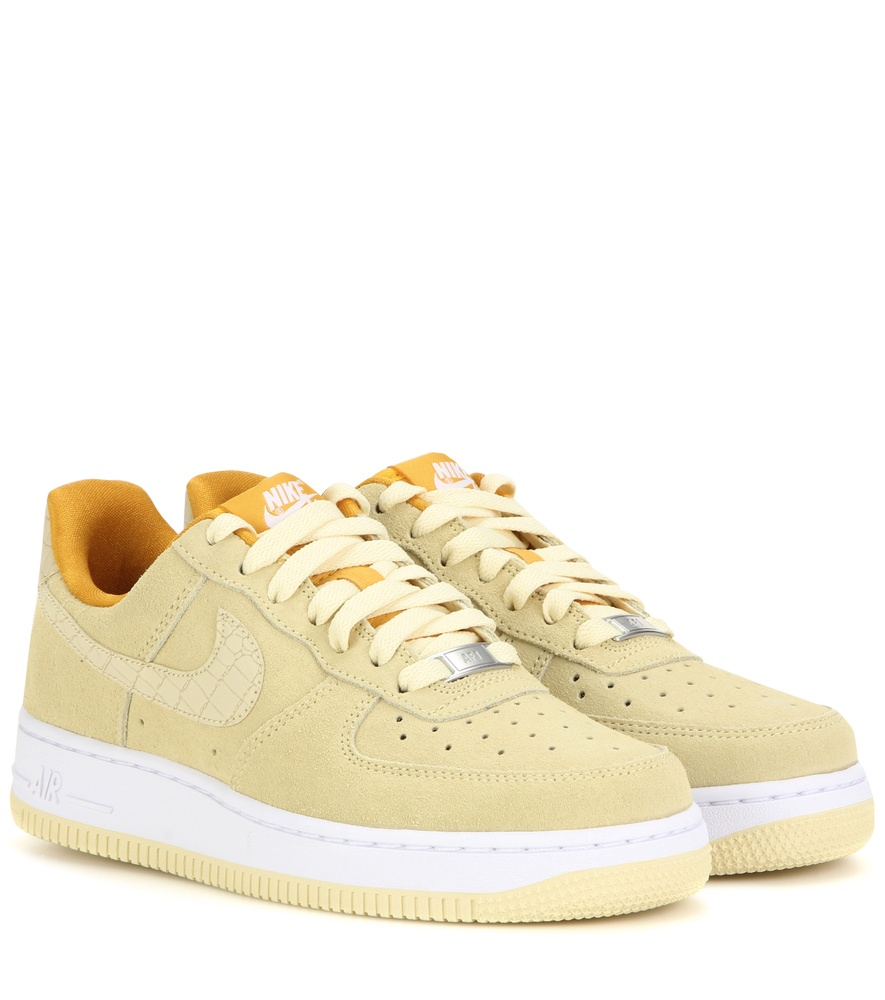 nike air force 1 39 07 seasonal suede sneakers in yellow lyst. Black Bedroom Furniture Sets. Home Design Ideas