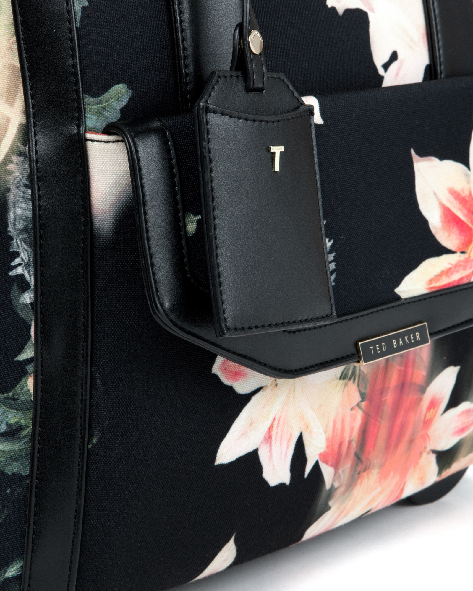 8698c7aba1e46 Ted Baker Opulent Bloom Canvas Luggage Case in Black - Lyst