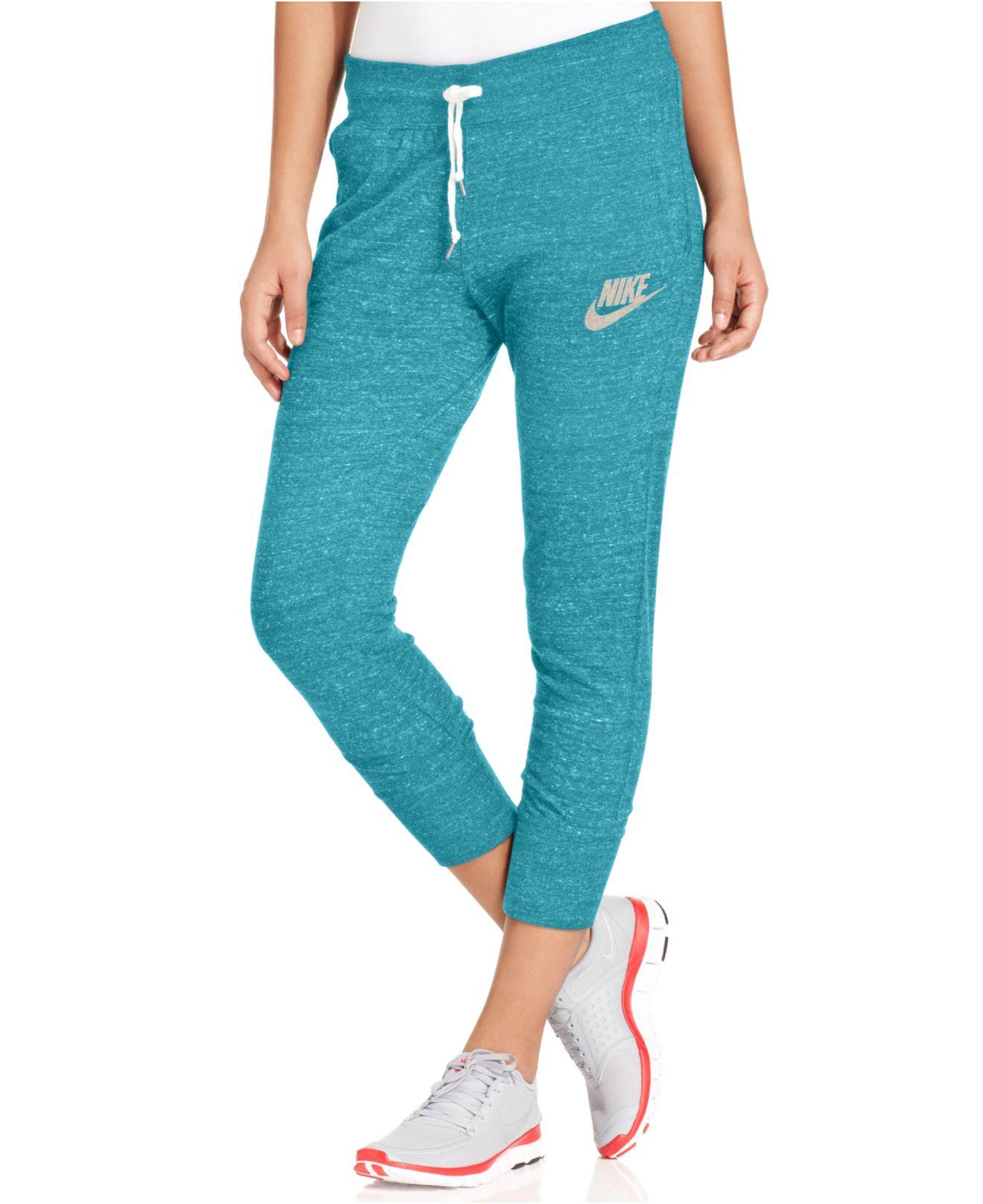 Nike Gym Vintage Capri Sweatpants In Blue Lyst