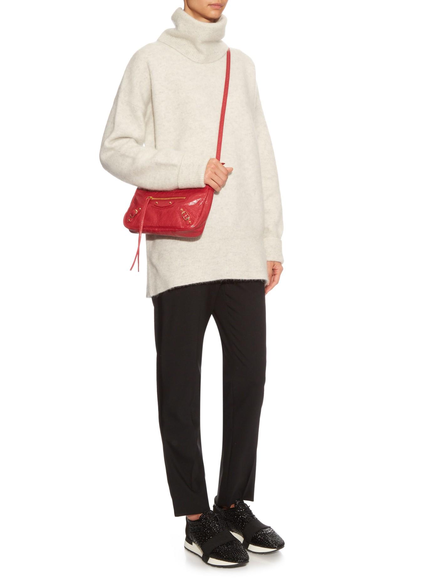 234d25f3ed0d3 Lyst - Balenciaga Classic Hip Metallic-edge Cross-body Bag in Red