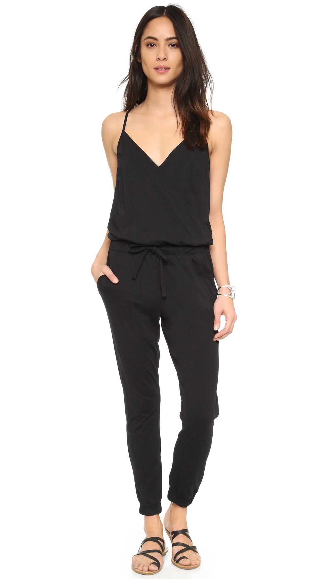 52e17f3ac436 Lyst - Bobi Perfect Jumpsuit in Black