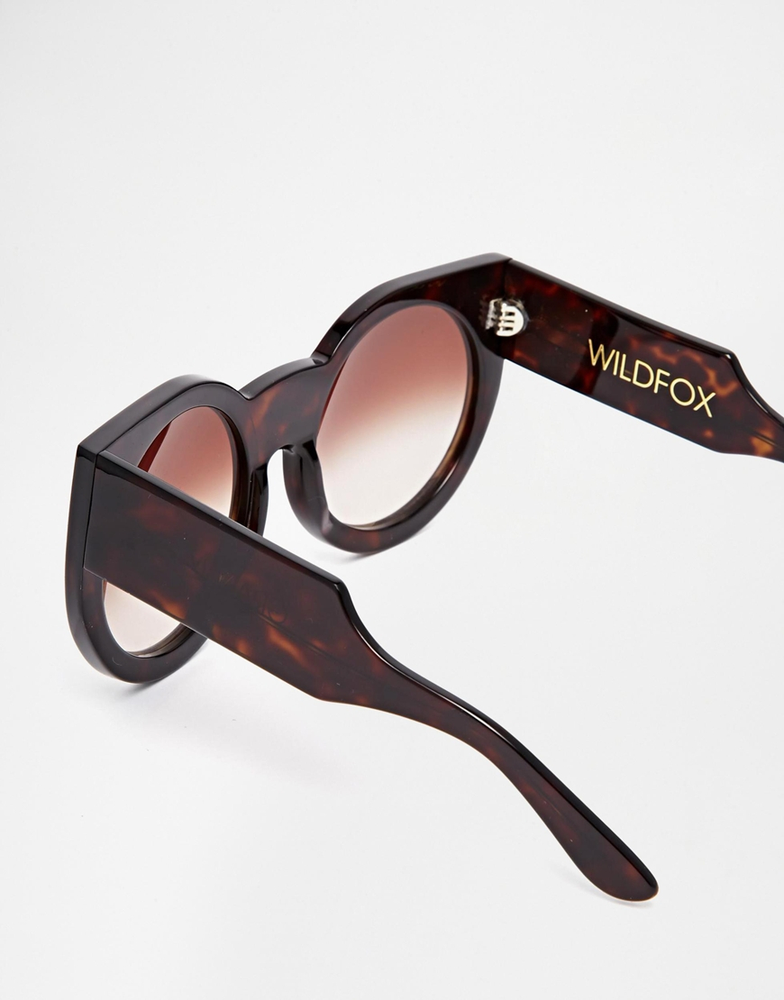 c743d45545487 Lyst - Wildfox Granny Oversized Cat-Eye Sunglasses in Brown