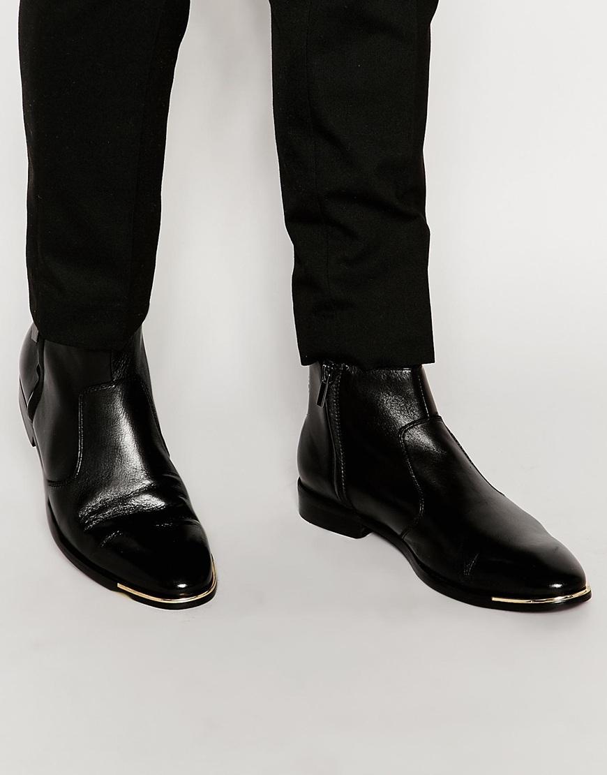 24d364dc97 Lyst - ALDO Cristena Leather Zip Boots in Black for Men