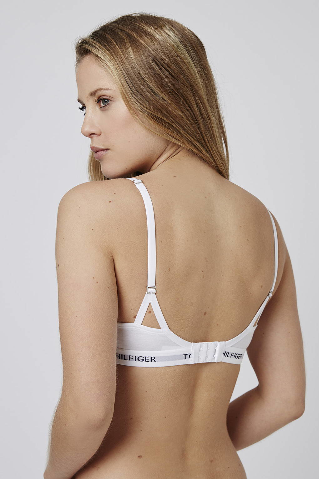 73c03315 TOPSHOP Iconic T-shirt Bra By Tommy Hilfiger in White - Lyst