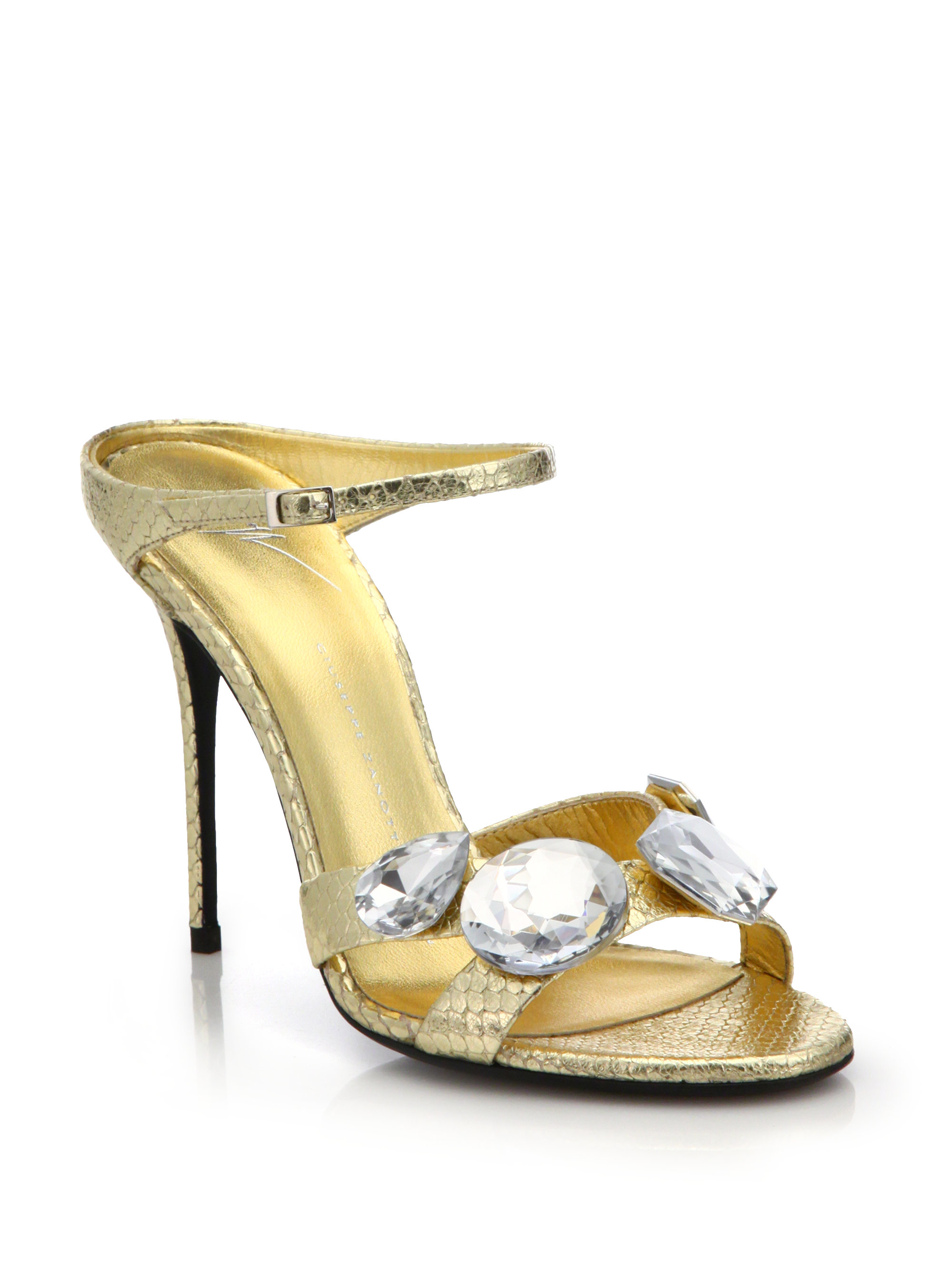 Giuseppe Zanotti Jewel-Accented Suede Sandals cheap sale 2014 excellent for sale clearance browse online sale online footlocker cheap price qAFMUnqow