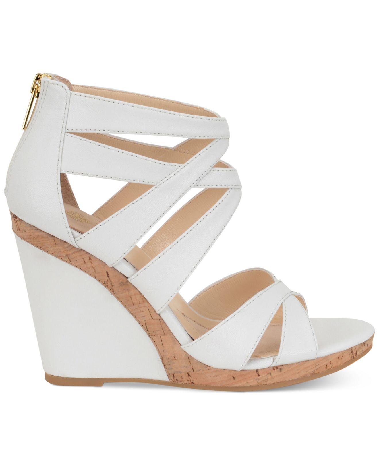 isola alisha wedge sandals in white lyst