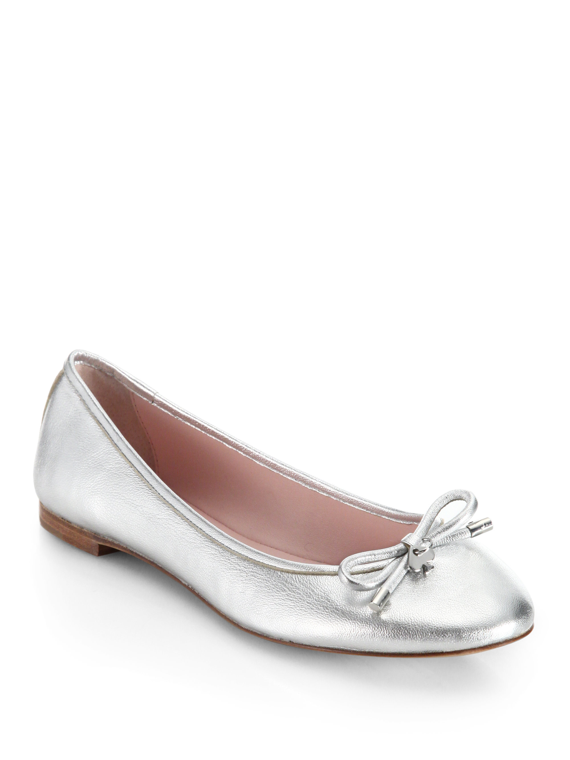 footlocker cheap price free shipping explore Kate Spade New York Leather Embellished Flats sale for sale low price cheap price cheap sale outlet locations cUC9C