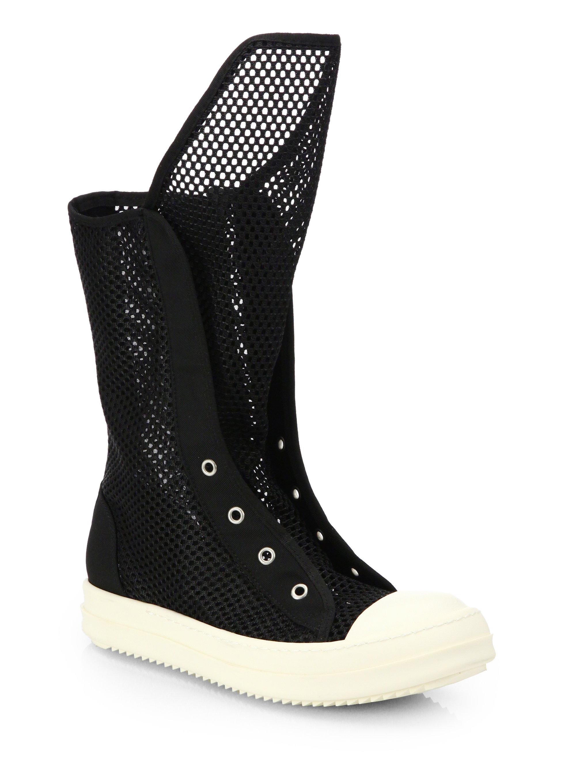 mid-calf sneaker boots - Black Rick Owens Bqq6Q6Qrt