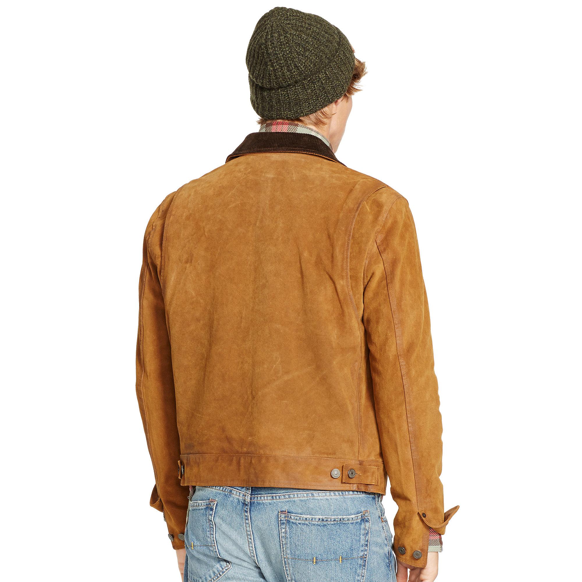 06a109592b508 Lyst - Polo Ralph Lauren Suede Warren Dungaree Jacket in Brown for Men