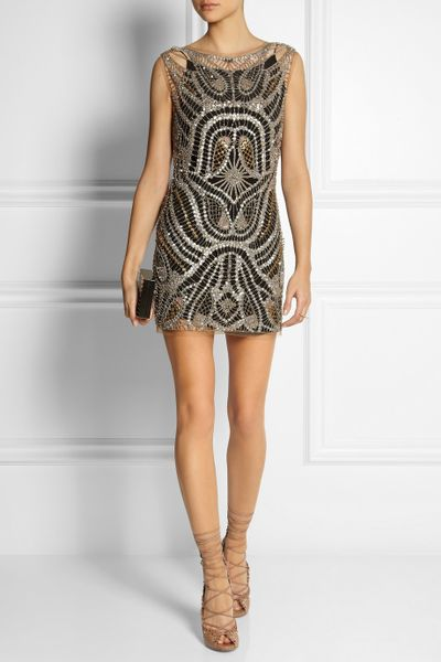Topshop Beaded Mini Dress