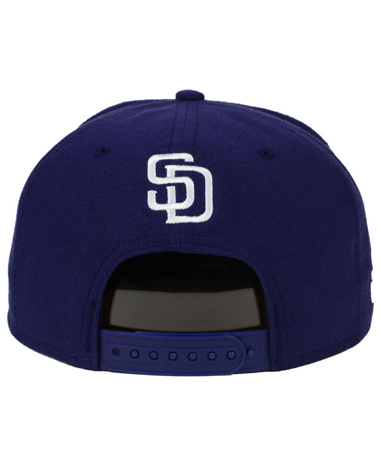 huge discount c88eb 4b434 KTZ San Diego Padres Star Wars Logoswipe 9fifty Snapback Cap in Blue ...