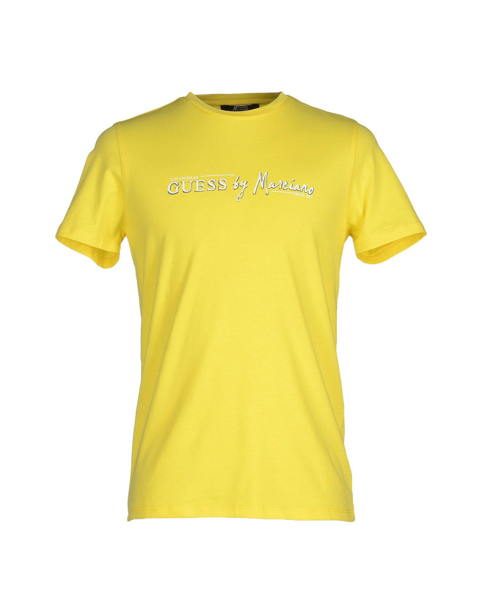 guess t shirt in yellow for men lyst. Black Bedroom Furniture Sets. Home Design Ideas