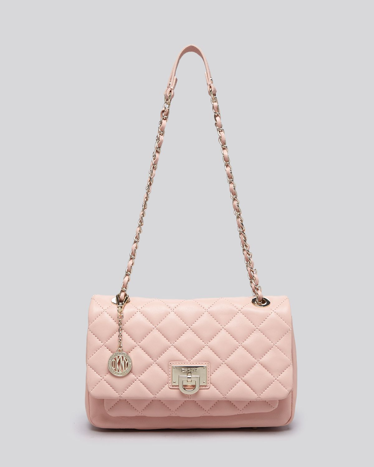 Dkny Shoulder Bag - Gansevoort Quilted Flap Pocket in Pink | Lyst