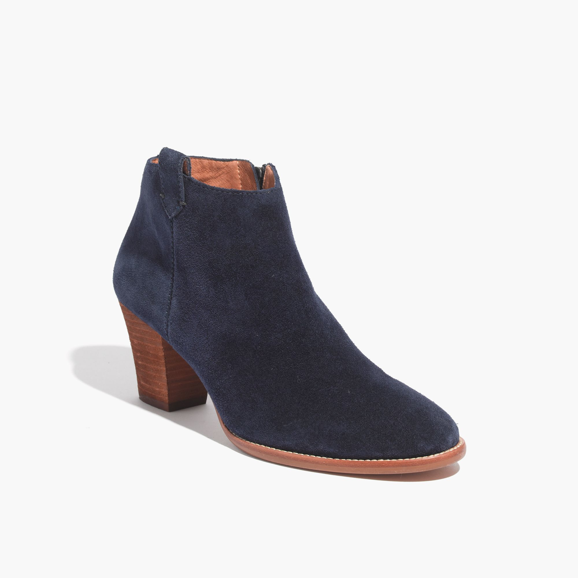madewell the billie boot in suede in blue lyst