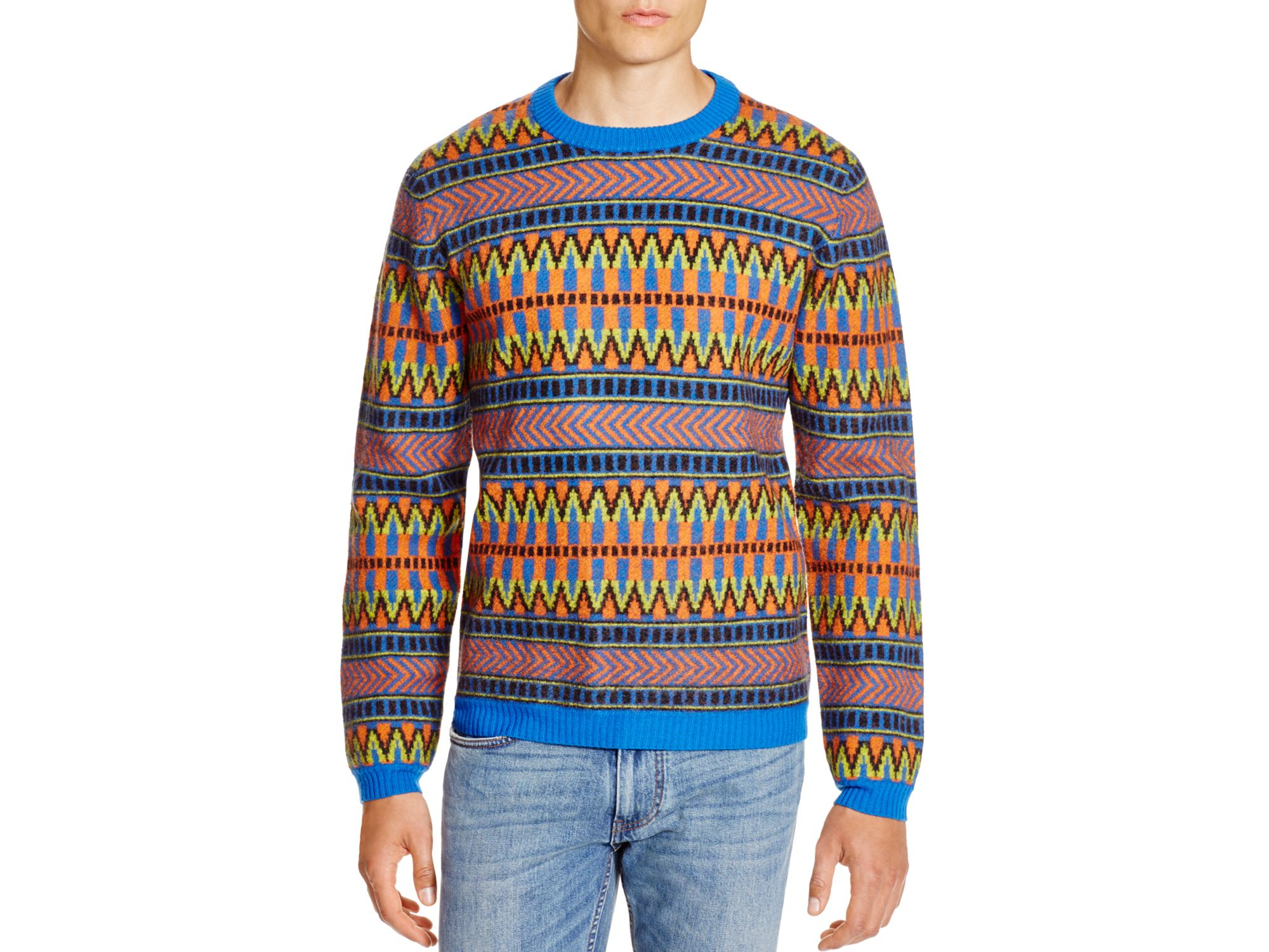 Marc by marc jacobs Fair Isle Sweater in Blue for Men | Lyst