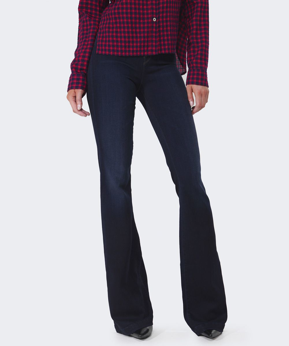 J brand Maria Embrace High-rise Flare Jeans in Blue | Lyst