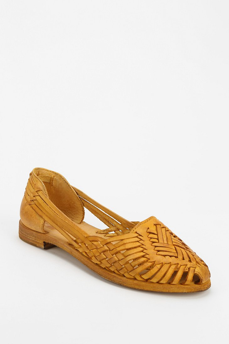 393a9b1a8a61 Lyst - Frye Heather Huarache Flat in Yellow