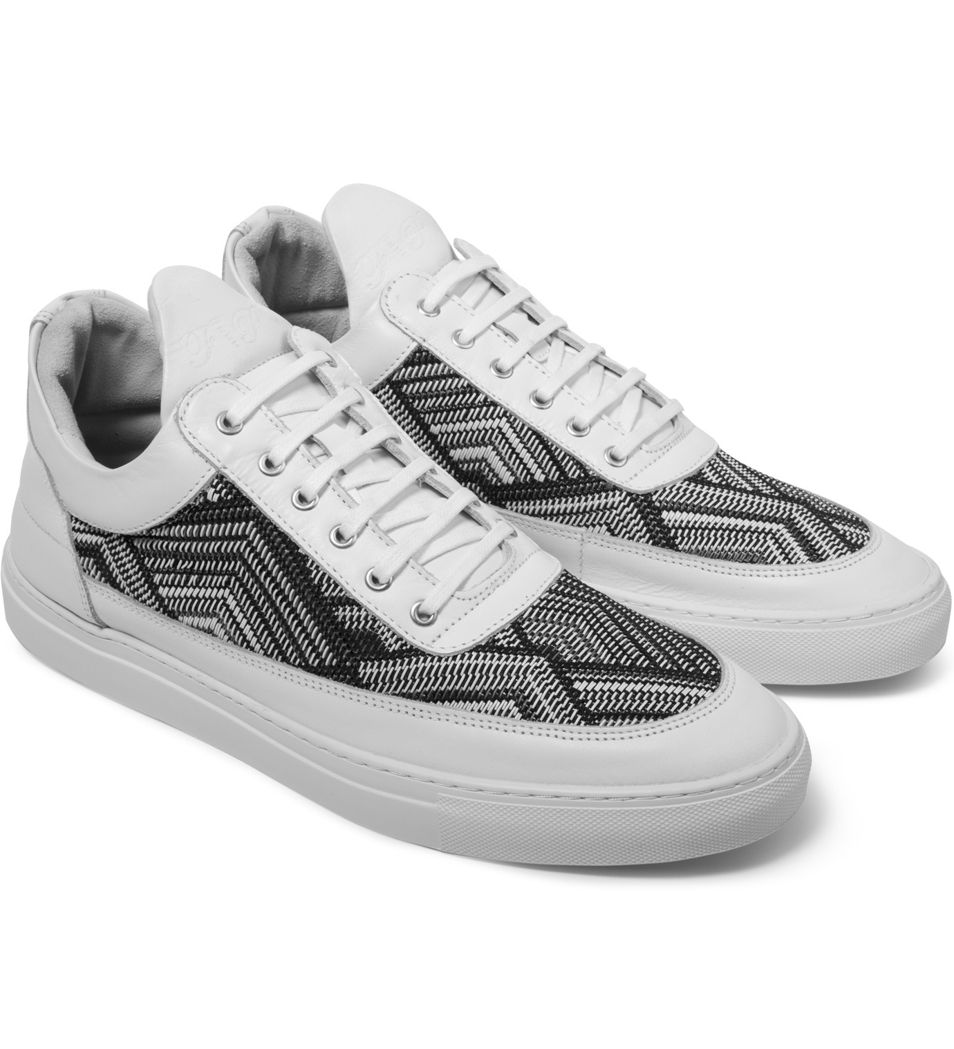 filling pieces tsa woven white low top sneakers in white. Black Bedroom Furniture Sets. Home Design Ideas