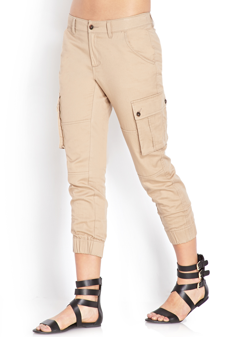 Perfect Forever 21 Woven Cargo Joggers In Green Olive  Save 34  Lyst