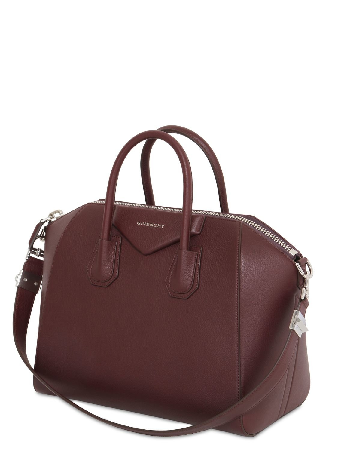 Givenchy Borsa in a Lyst media in grana antigona marrone pelle wqwaSYH