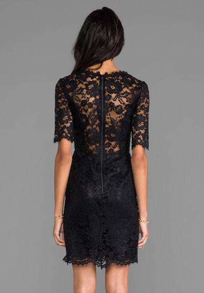 Shoshanna Lace Daria Dress In Black In Black Lyst