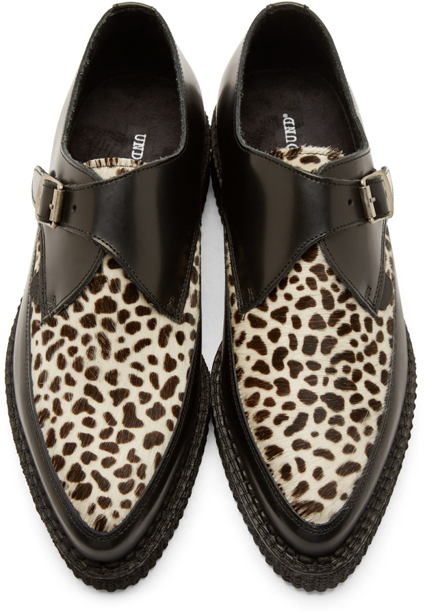 Black And Leopard Print Shoes