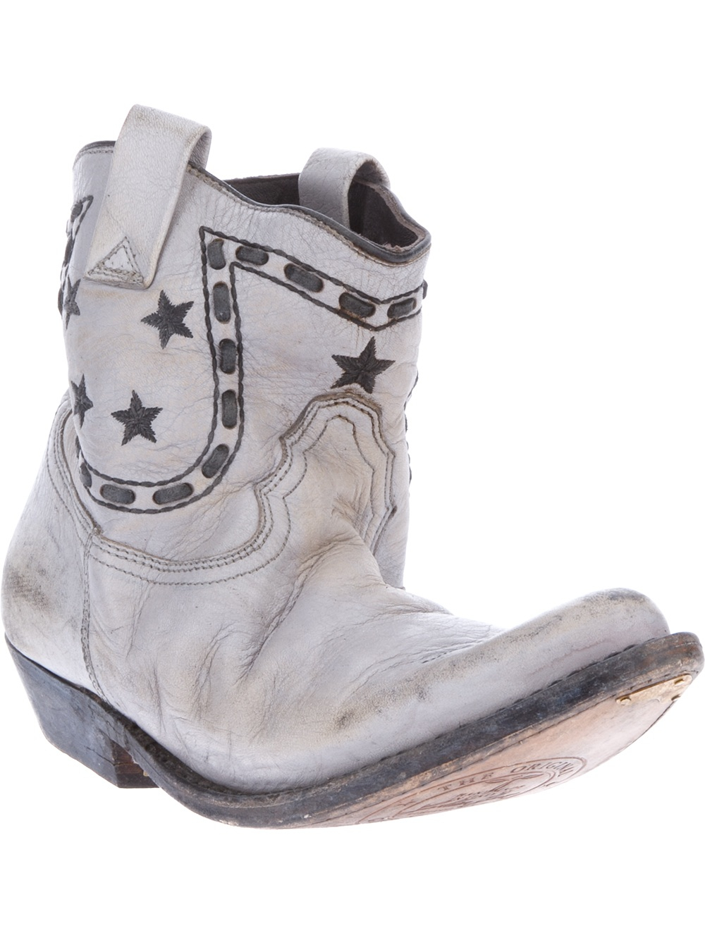 Golden goose deluxe brand Cowboy Boots in Gray | Lyst