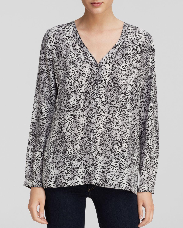 094e9d5485b475 Joie Nepal Silk Tile-print Blouse in Gray - Lyst