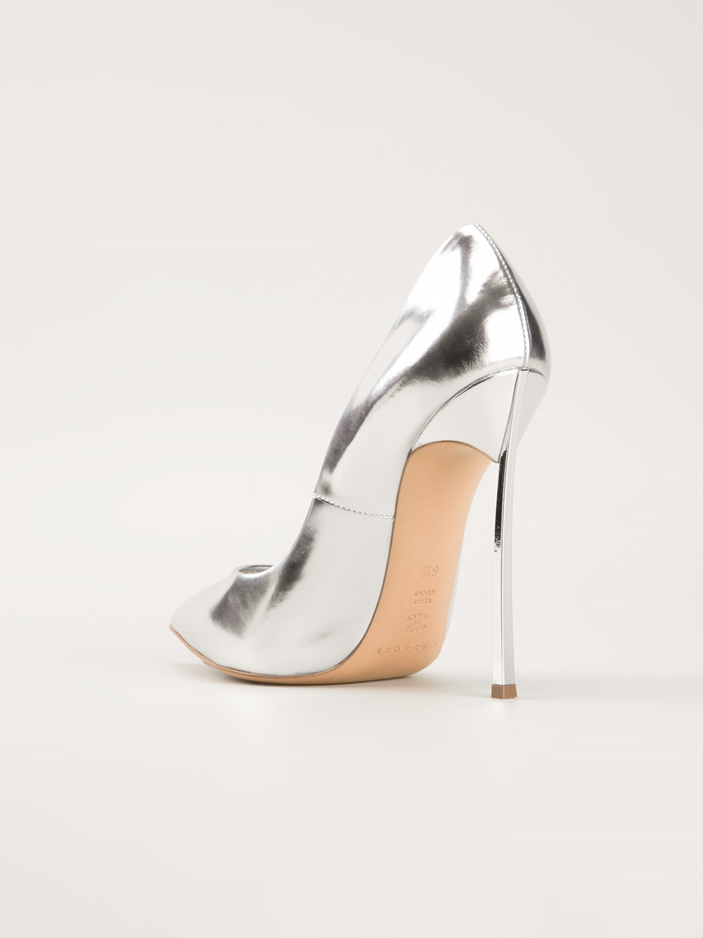 Lyst Casadei High Heel Pumps In Metallic