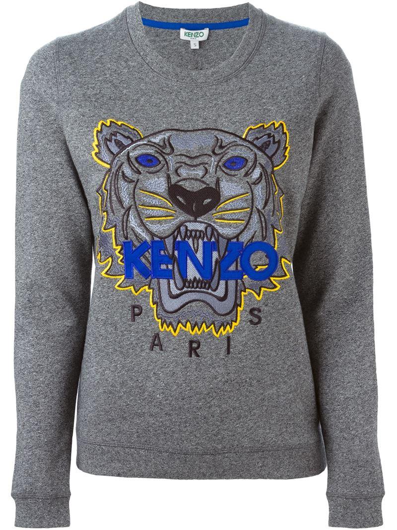In Sweatshirt Gray Kenzo 'tiger' Lyst TclF31JK