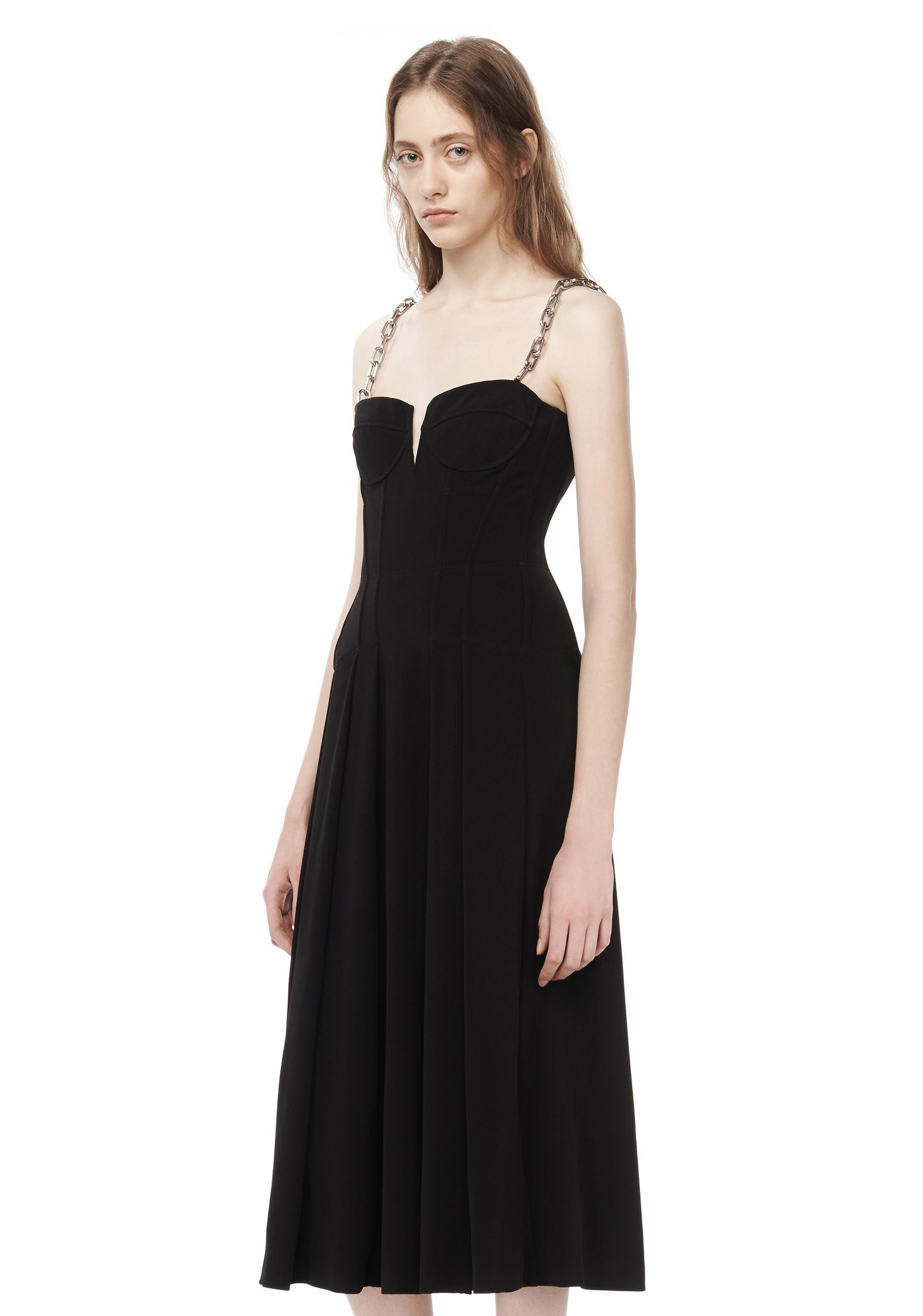 Alexander wang A-line Bustier Dress With Chain Straps in ...