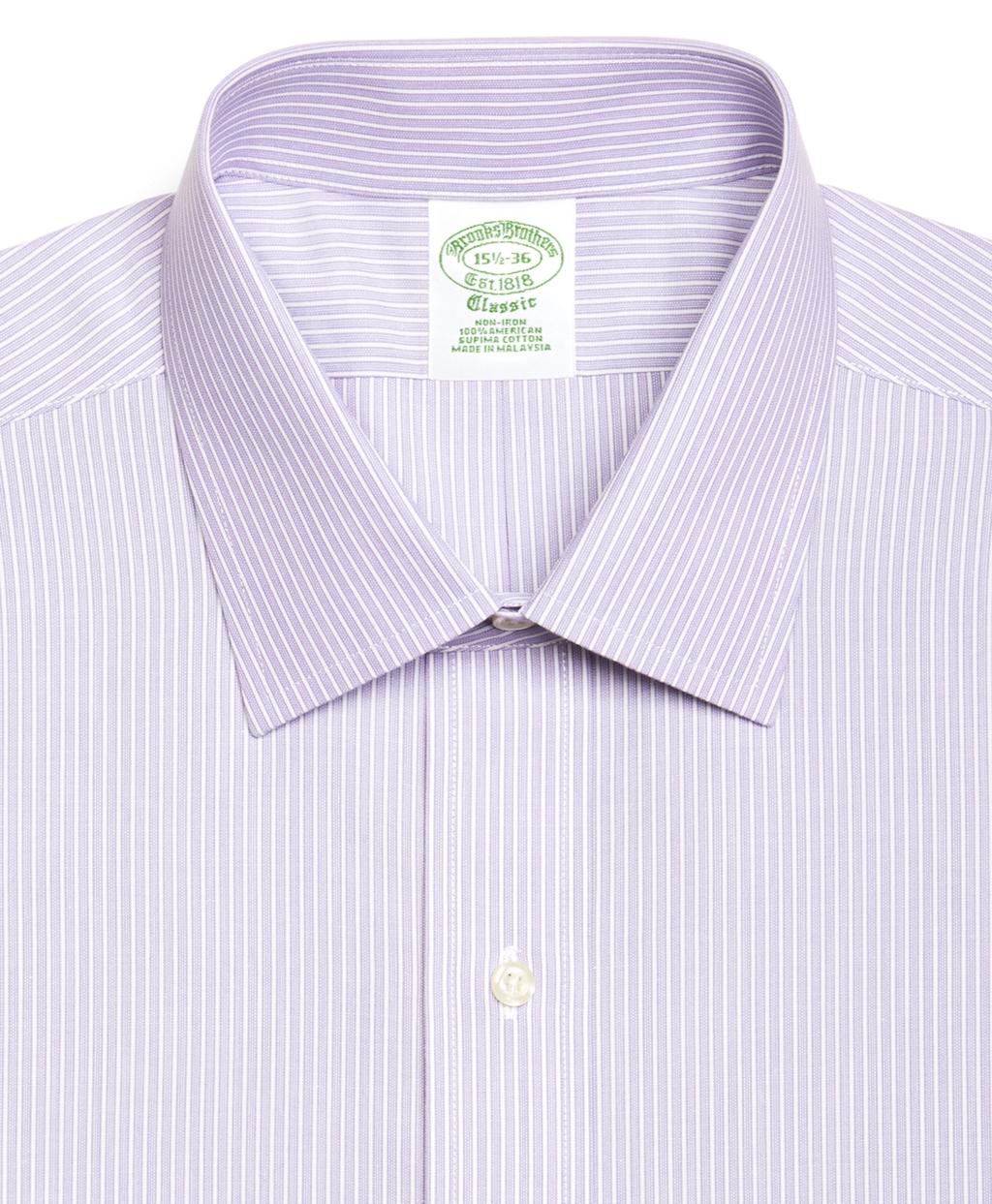 Lyst brooks brothers supima cotton noniron regular fit for Supima cotton dress shirts
