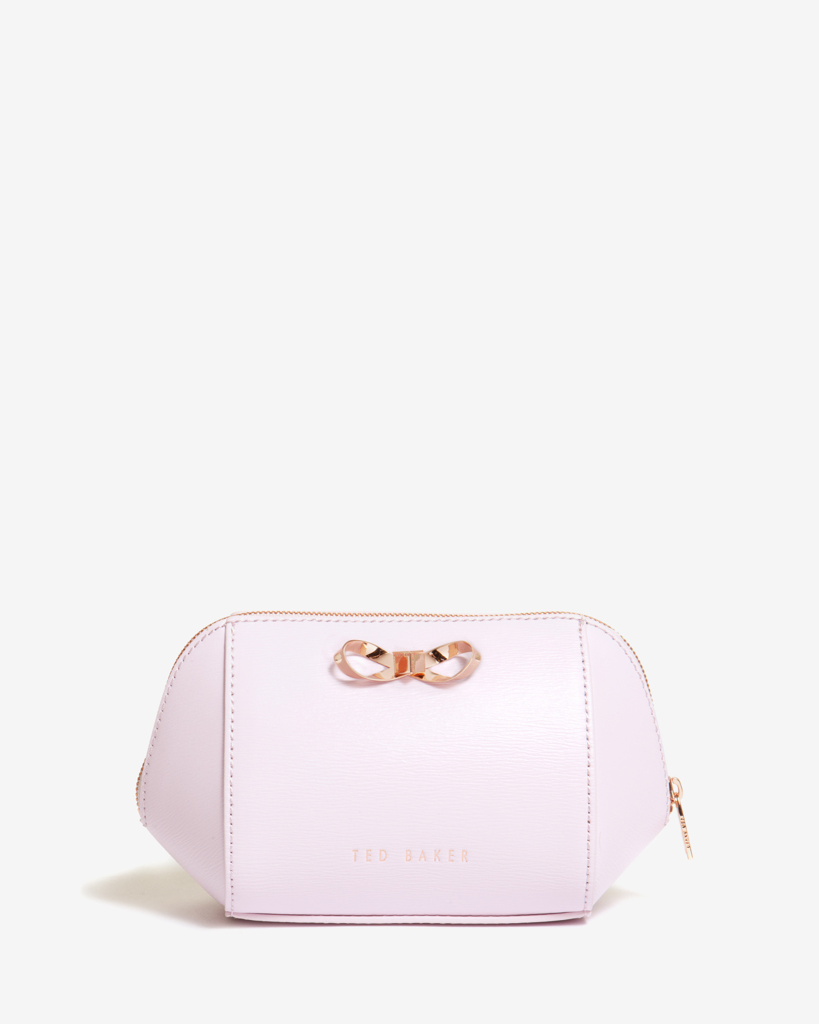 164879282 Ted Baker Leather Trapeze Bow Wash Bag in Pink for Men - Lyst