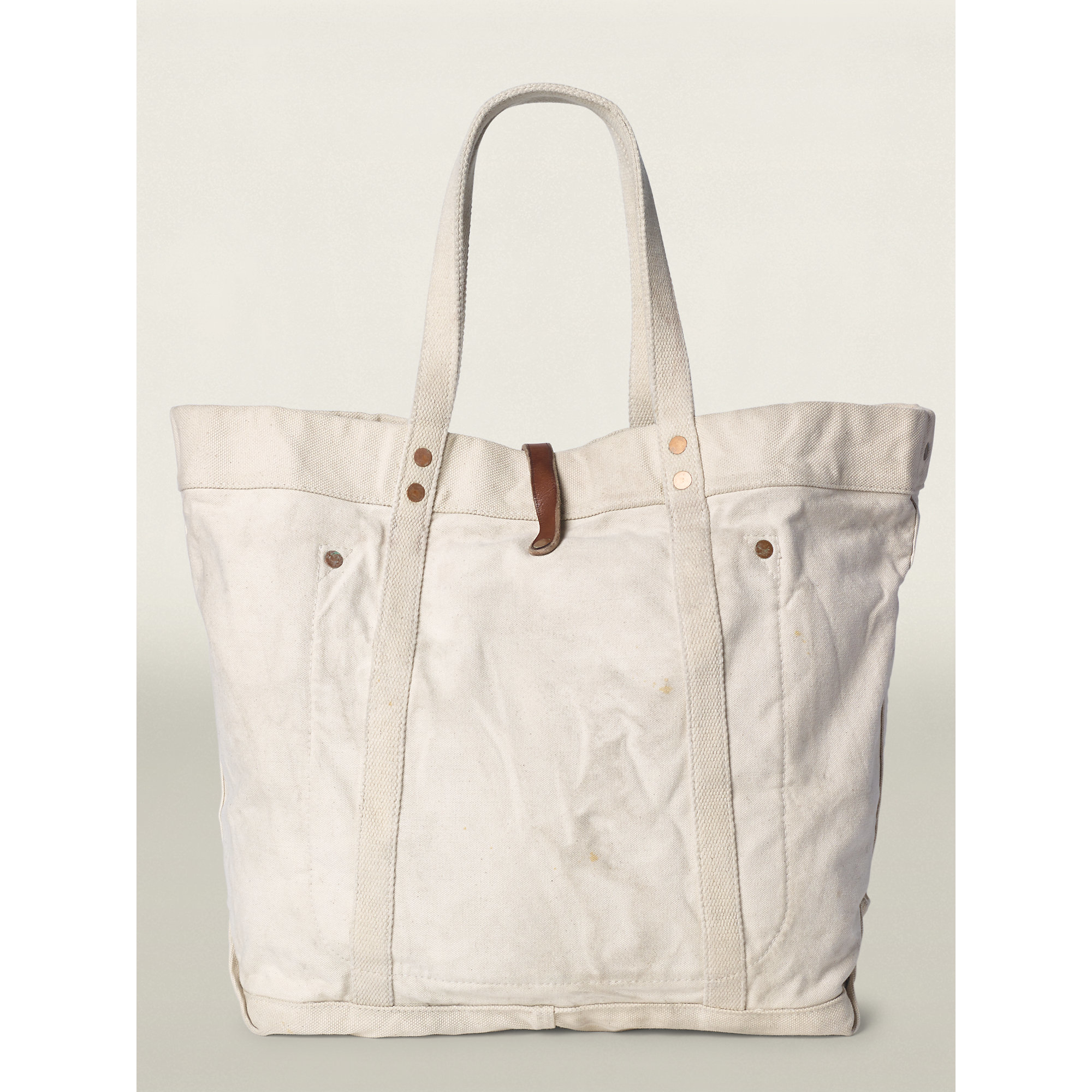 77e0dc986d Lyst - RRL Murphy Printed Canvas Tote in White for Men