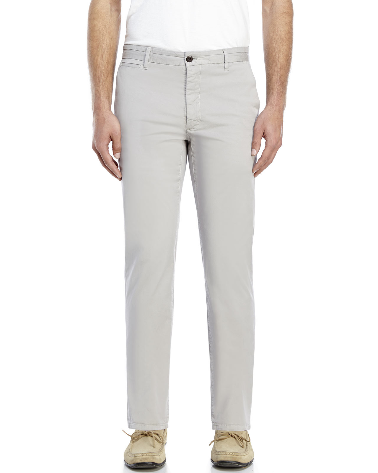 Dockers Grey Marina Collection Slim Tapered Khaki Pants in Gray ...