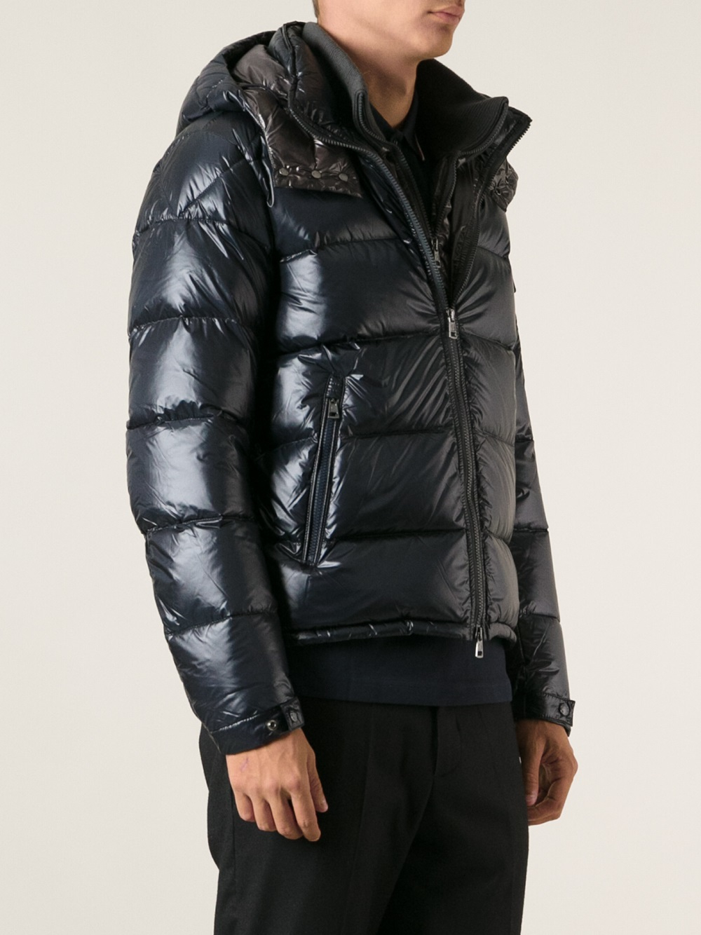moncler grey down zin jacket